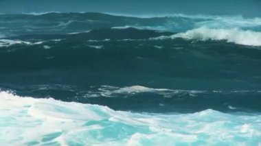 Giant Breaking Ocean Waves — Stock Video