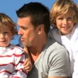 Father & Sons Time Together — Vídeo de stock