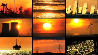 Montage Contrasting Environmental Energy Sources — Stock Video