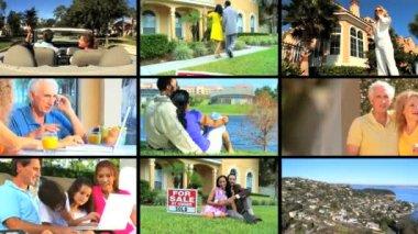 Montage of Suburban Lifestyle — Stock Video