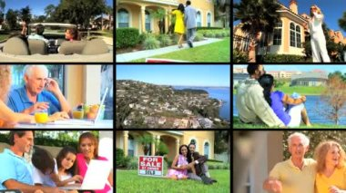 Montage of Suburban Living & Real Estate — Stock Video