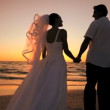 Beach Wedding at Sunset - Stockfoto