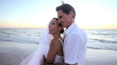 Beach Wedding Happiness — Stock Video