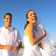 Wedding Couple on the Beach - Stock Photo