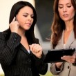 Stock Video: Businesswomen Using Modern Internet Technology