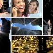 Montage of Business People & City Commuters - Stock Photo