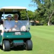 Seniors in Golf Buggy — Stock Video