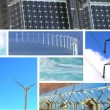 Montage of Wind & Solar Power Production — Stock Video