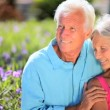 Affectionate Retired Couple - Stock Photo
