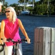 Seniors Healthy Cycling - Stock Photo
