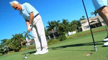Seniors Golf Success — Stock Video