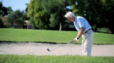 高级绅士的高尔夫球 — 图库视频影像