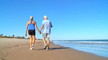 Senioren gezond — Stockvideo