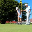 Healthy Seniors Enjoying Golf - Stock Photo