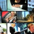 Montage of Business Using Wireless Communication — Stock Video