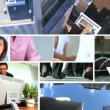 Montage of in City Business Situations — Stock Video