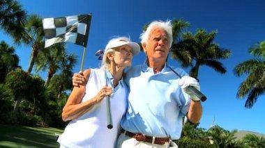 Portrait of Senior Golfers — Stock Video