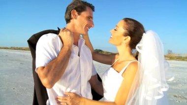 Wedding Day Kiss — Stock Video
