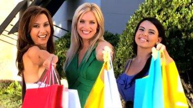 Female Retail Therapy Fun — Stock Video