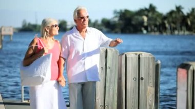 Healthy Exercise for Seniors — Stok video