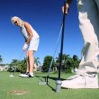 Stock Video: Seniors Enjoying Golf