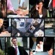 Montage of Successful Business People - Foto de Stock