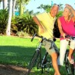 Fit & Healthy Cycling Seniors — Stok video