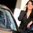 Confident Businesswoman Using Cell Phone — Stock Video