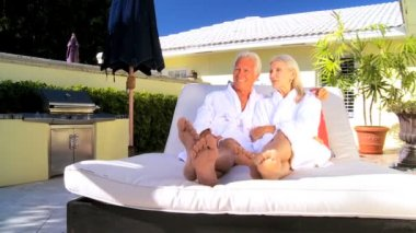 Seniors Health Club Relaxation — Stock Video