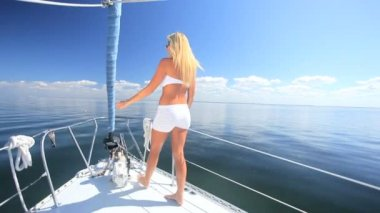 Wealthy Yachting Lifestyle — Stock Video