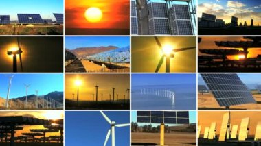 Montage of Renewable Energy Production — Stock Video