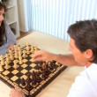 Couple Playing Chess at Home — Stock Video