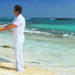 Stock Video: Couple on Dream Vacation Island