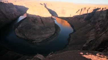 Horseshoe Bend, Colorado River, Arizona — Stock Video
