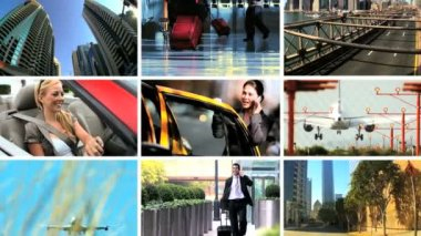 Montage of Methods of Business Travel — Stock Video