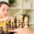 Young Boy With Chess Game — Stock Video