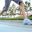 Lower Body of Girl Jogging — Stock Video