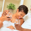 African-American Couple Enjoying a Glass of Wine — Stock Video