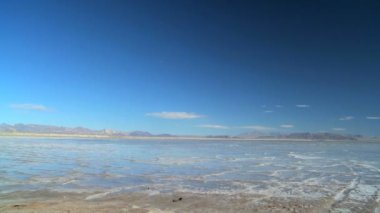 Flat Lands of a Vast Salt Lake — Stock Video