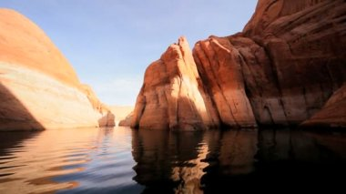 Environmental Erosion at Lake Powell, Arizona — Stock Video