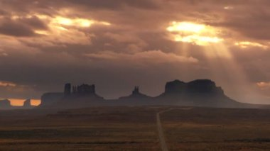 Cloudscape over Monument Valley — Stock Video