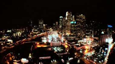 Elevated Time-lapse View of Los Angeles at Night — Stock Video