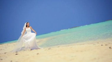 Sposa di nozze isola paradiso — Video Stock