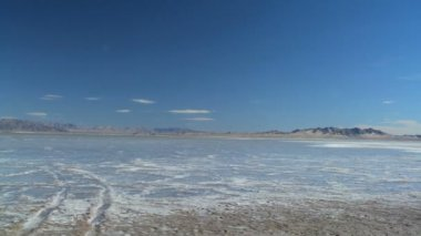 Panorama of Salt Lake Flats — Stock Video