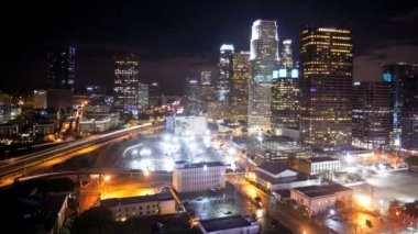 Los Angeles City Night Time-lapse — Stock Video