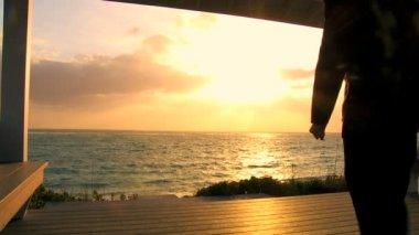 Çiftin Paradise Island düğün — Stok video