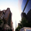 P.O.V. Driving Towards Empire State Building in New York - Foto Stock