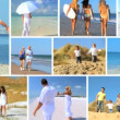 Stock Video: Montage of Having Fun Beach Lifestyle