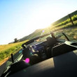 Driving the Countryside of Napa Valley at Sundown - 图库照片