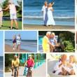 Montage of Senior Couple Enjoying Their Healthy Lifestyle - Stock Photo
